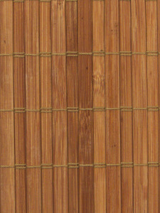 Bamboo wallpaper with untreated surface. If you do not apply stiffener wood plate on the back it is well airing between the stick through the 0,5 mm gaps. Well befit to bamboo flooring