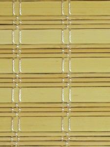 Material for manufacture of custom made bamboo blinds and bespoke shading