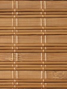 Material for manufacture of made to measure bamboo blinds and bespoke bamboo shading