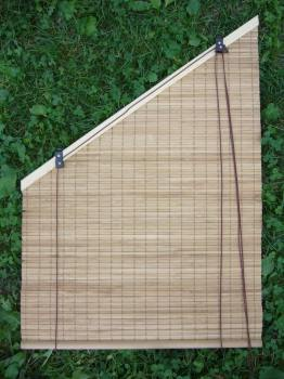Bamboo binds for tilted windows, garret-windows, shading mat for lo fts, slant shades