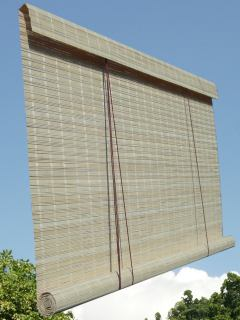 wicker roller blinds, made to measure outdoor bamboo blind
