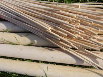 Rattan pole and pegging cane