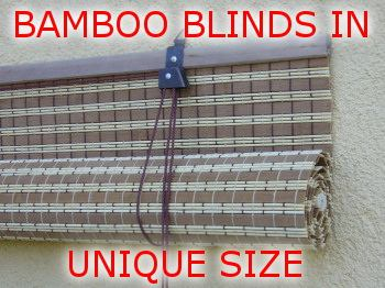 The production of bamboo blinds in unique size