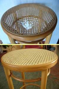Repair of caned chairs and rocking chairs by DIY